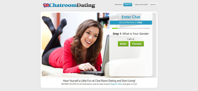 Dating site with chat room