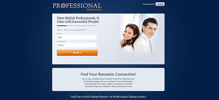 Professional Dating Service